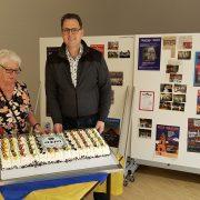Bakker Bos sponsort taart AZM 50 jaar